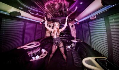 Partybus mit Stripperin