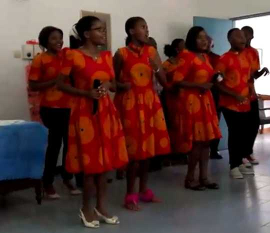Youth choir performs in Dar es Salaam, Tanzania