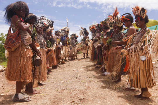 Celebrations at Temple Site in Papua New Guinea