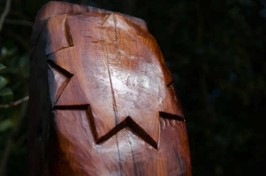 Festivities inspire carving of a traditional Māori post
