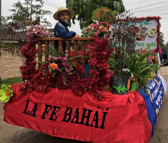Bahá'ís in Honduras participate in flower parade