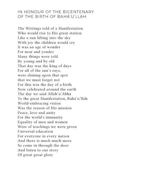 Poem honours Bicentenary