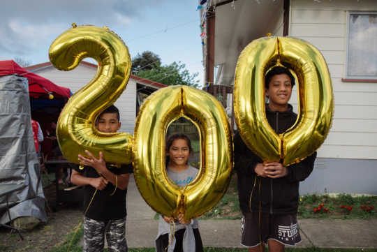 Neighbourhood in New Zealand celebrates