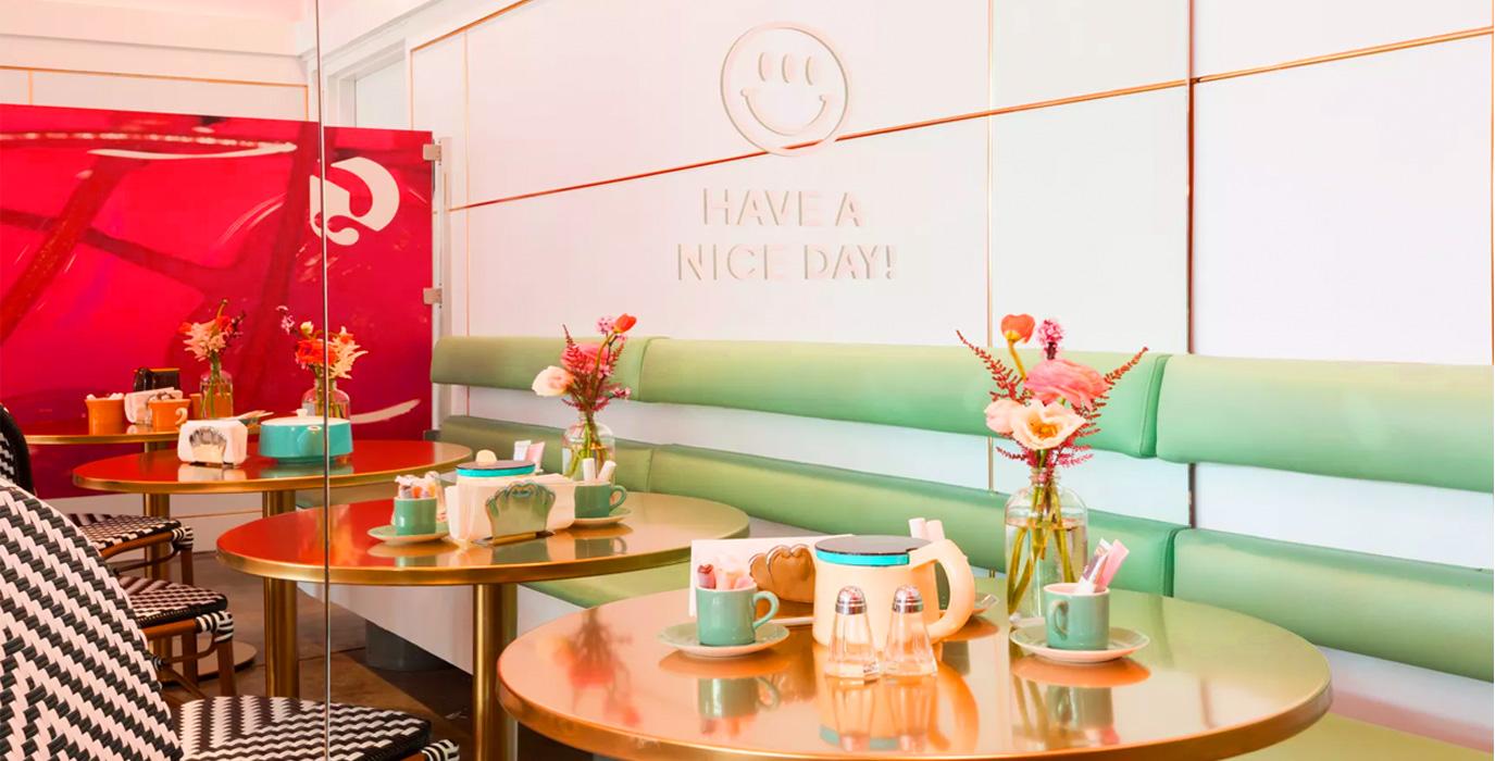 IWD- Food & beauty- Glossier & Rhea's Cafe