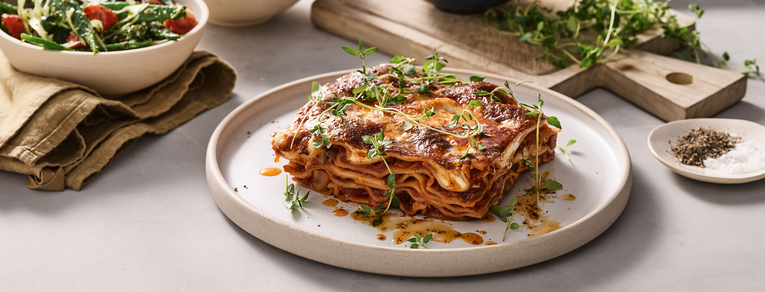 Plant based lasagne from simple feast