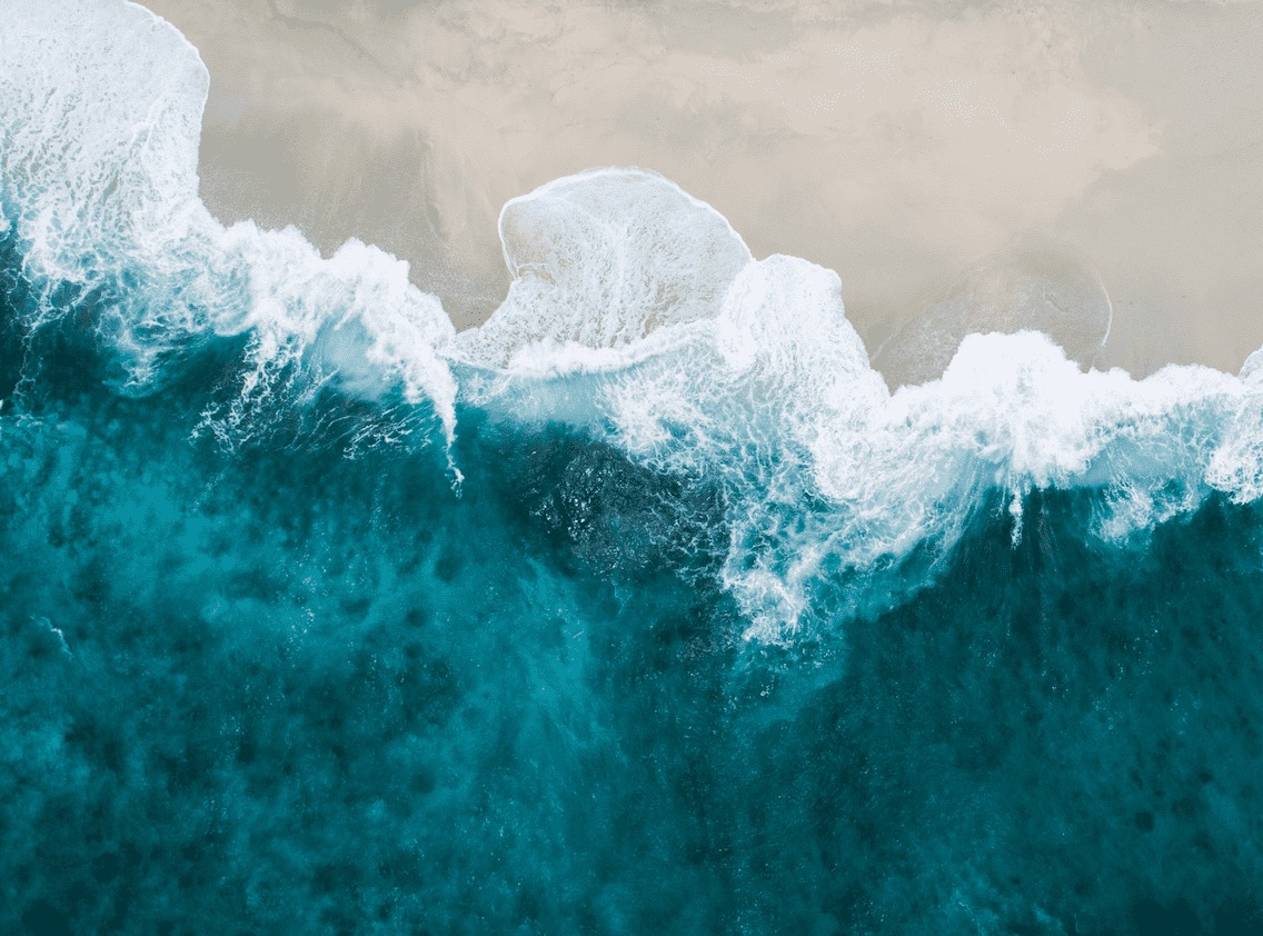 Wave and shoreline