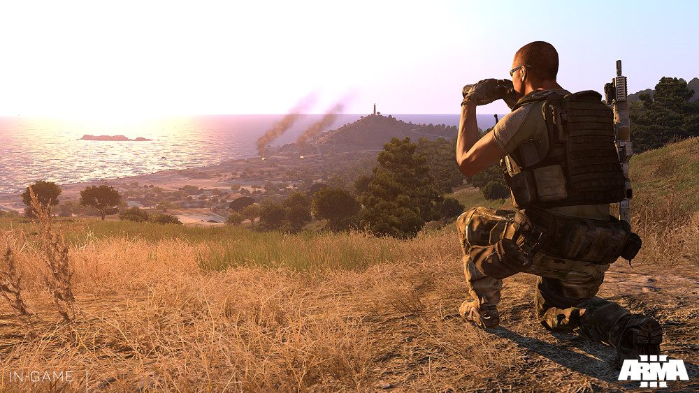 Arma 3 sunset screenshot
