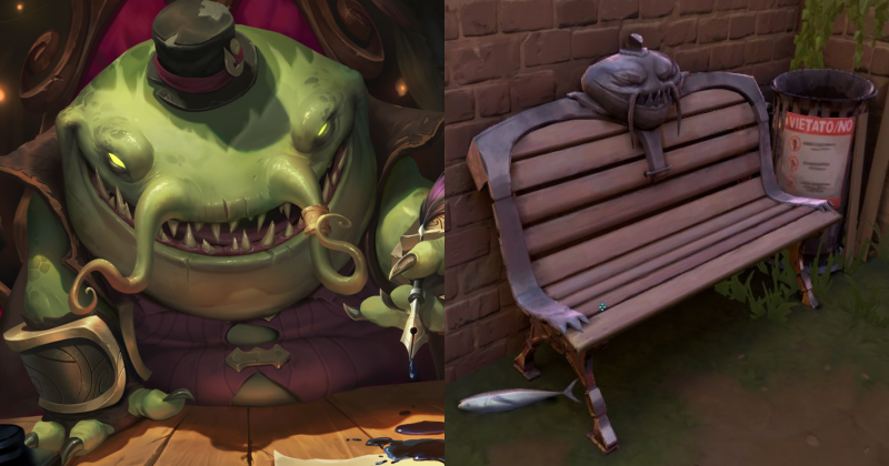 Tahm Kench bench
