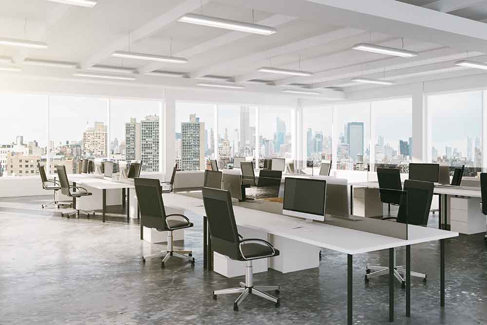 Business Have an Open Floor Plan Office
