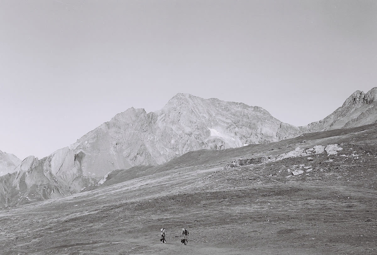18 B&W Film of Hiking the Europe's Iconic Tour du Mont Blanc