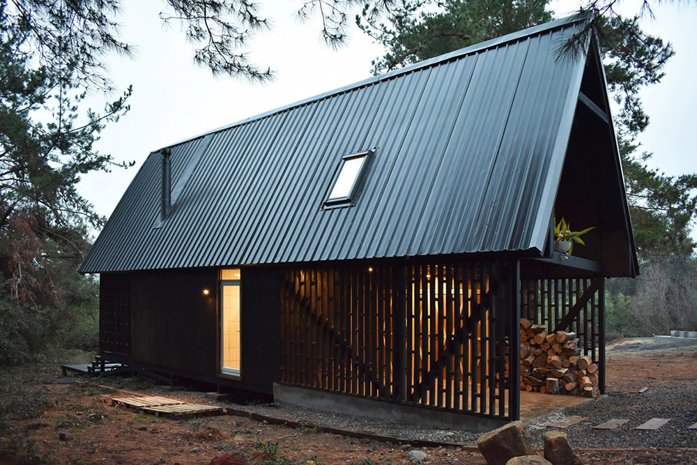 This Striking Black Cabin in Patagonia Offers Refuge Across All Seasons