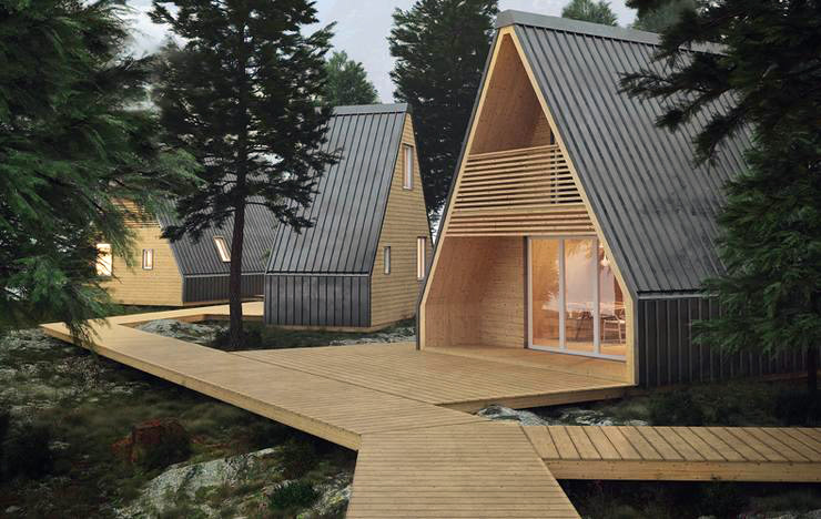 4 Cool A-Frame Cabin Kits & Prefab House Designs | Field Mag Afram House With Plans on house floor plans, house design, house drawing, house building plans,