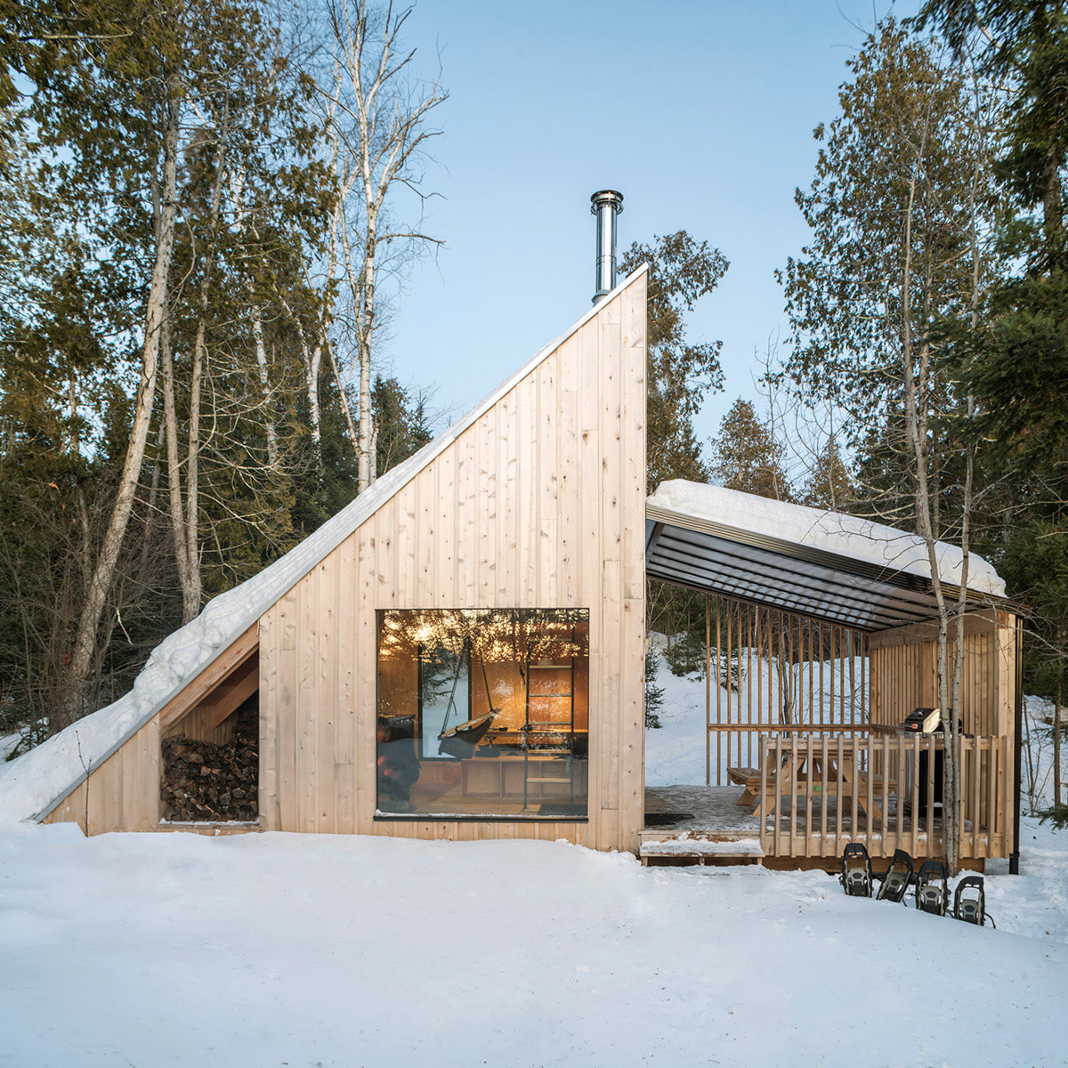 The Classic A-Frame Cabin Gets Reinterpreted in Rural Quebec