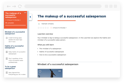 Makeup of a successful salesperson