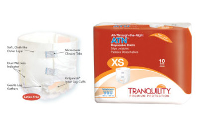 Tranquility® All-Through-The-Night Disposable Briefs with Tabs, Maximum