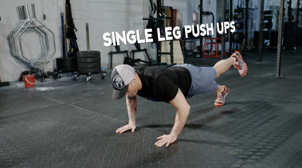 Workout of the Day | Single Leg Push Ups