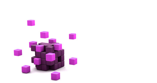 Purple 3D Blocks 476820136