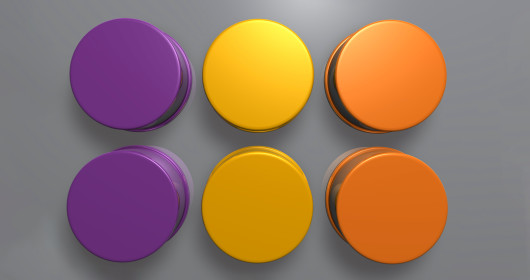colored circles with a gray background