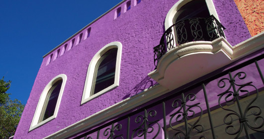 side-of-purple-building