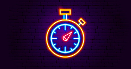 Stopwatch Neon Sign-1175241842
