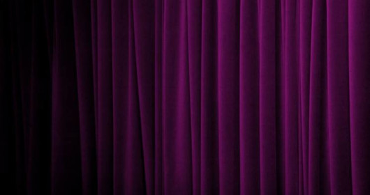Close-up of purple curtain in various tones