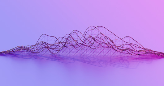 abstract curve chart on purple background