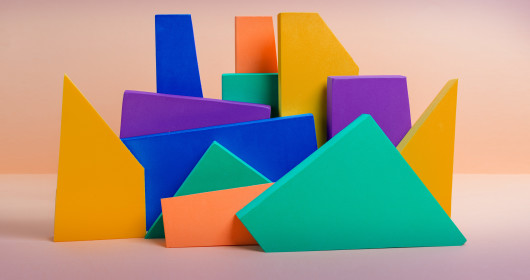Colorful and abstract blocks