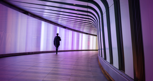 Pedestrian tunnel in London