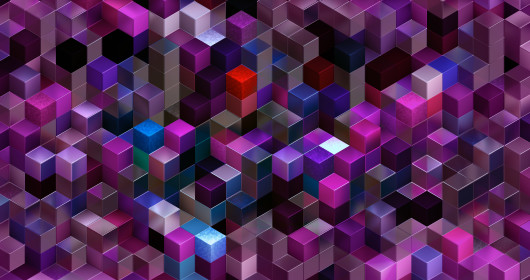 abstract background with multi-colored cubes