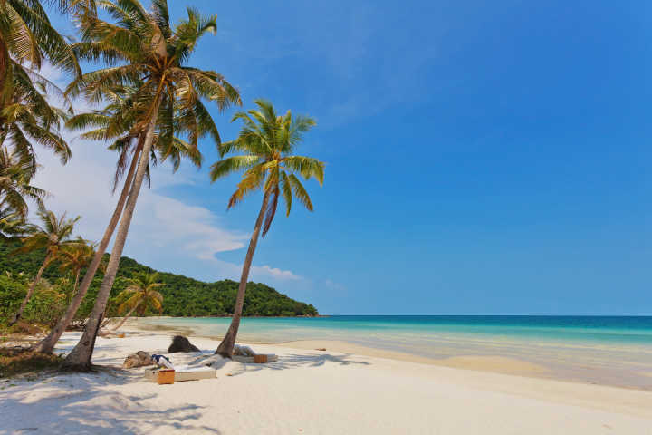 Visit the beautiful white beaches of Phu Quoc on a Vietnam vacation