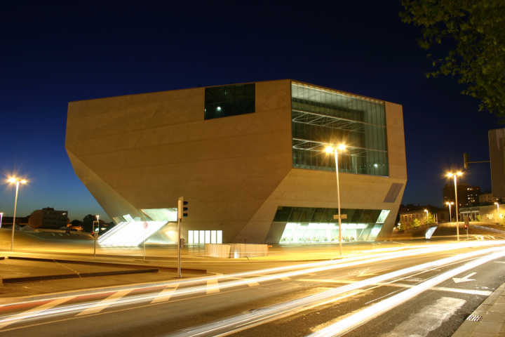 View of the Casa da Música venue on a Porto vacation in Portugal