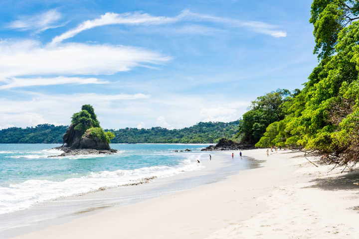 Gorgeous white sand beach in Costa Rica