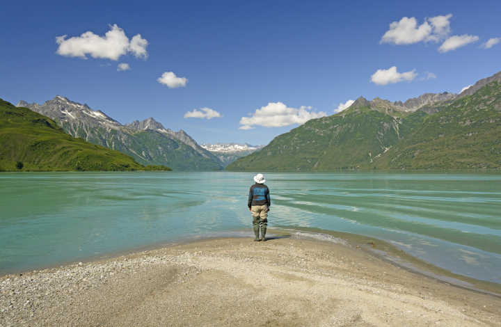 Go on a solo adventure around Lake Clark National Park as part of a tour of Alaska and the USA
