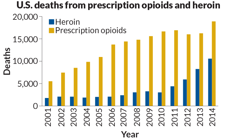 Opioids Death Graph