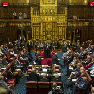 House of Lords with Lord Speaker Norman Fowler presiding