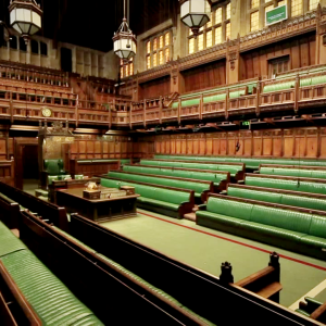 Empty House of Commons chamber