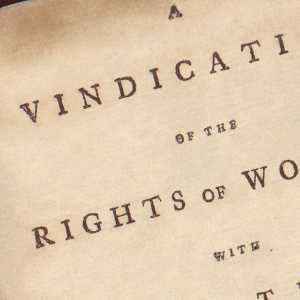 Cover to an original copy of the Vindication of the Rights of Women