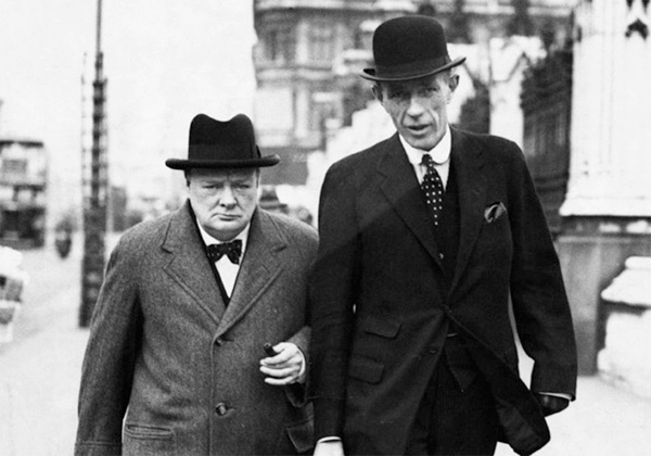 Winston Churchill and Lord Halifax, 1949