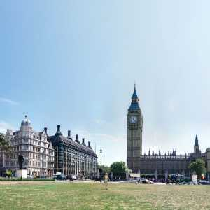 Panoramic photo of Parliament Square, Westminster