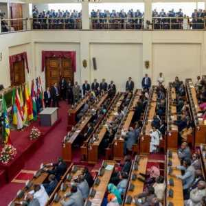Ethiopian Parliament in Addis Ababa - President Sissi address - interior