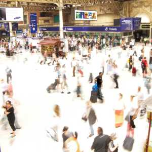 Commuters at Victoria Station, London