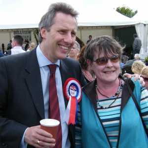 Ian Paisley Jr campaigning