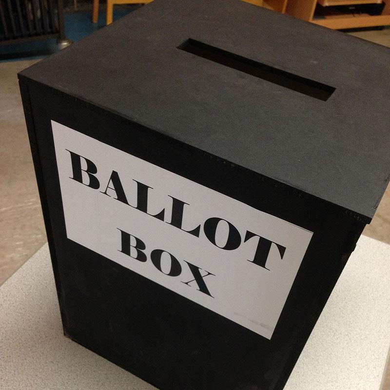 Mock election ballot box