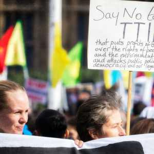 TTIP protest in London