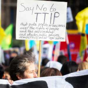 TTIP protest in London