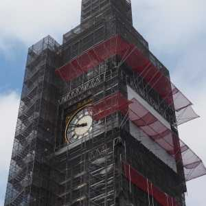 Big Ben, Houses of Parliament, in scaffolding