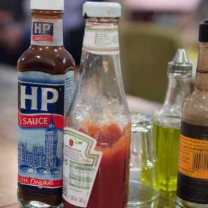 Photo of HP sauce and other condiments