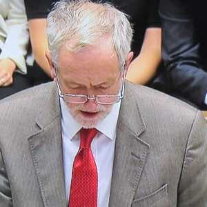 Leader of the Opposition Jeremy Corbyn during Prime Minister's Questions (PMQs)