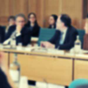 Select committee panel (blurred)