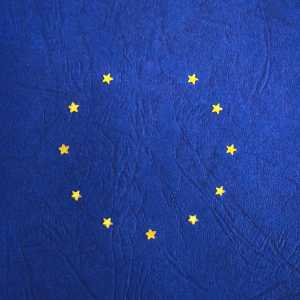 EU flag missing a star, symbolising Brexit